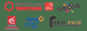logo partenaires centre commercial hexagones 2024
