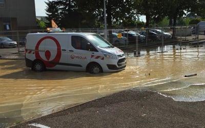Incident en cours : rupture d'une canalisation d'eau