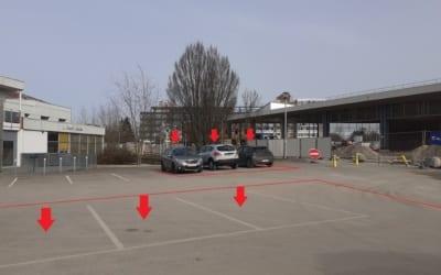 Neutralisation de places de stationnement