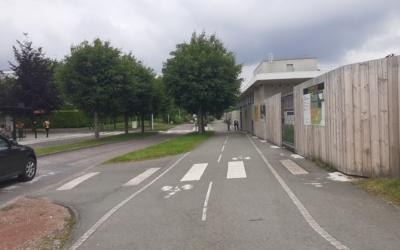 Fermeture trottoir Avenue François Mitterand